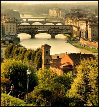 The Arno River of Italy