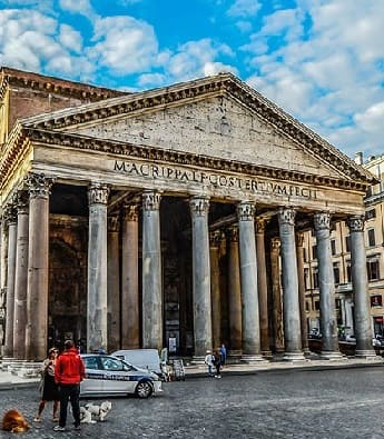 The ancient Rome Pantheon